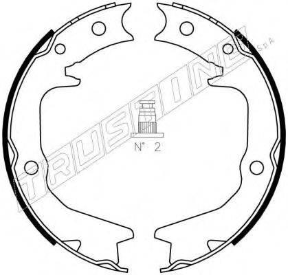 TRUSTING 064177 Комплект тормозных колодок, стояночная тормозная система