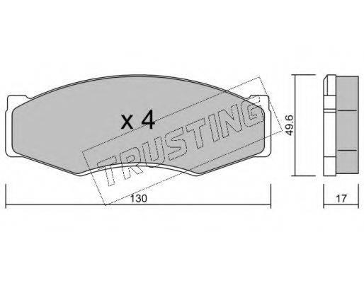 TRUSTING 0680 Комплект тормозных колодок, дисковый тормоз