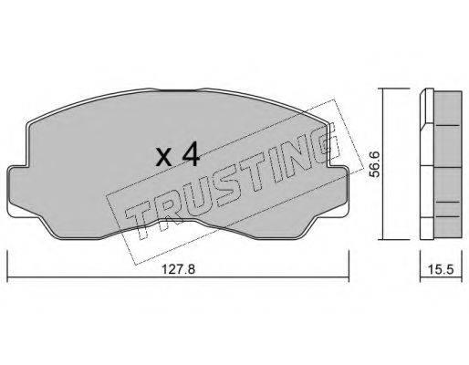 TRUSTING 1140 Комплект тормозных колодок, дисковый тормоз
