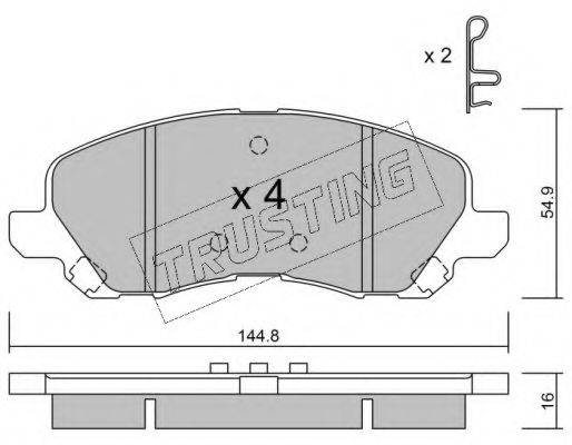 TRUSTING 4970 Комплект тормозных колодок, дисковый тормоз