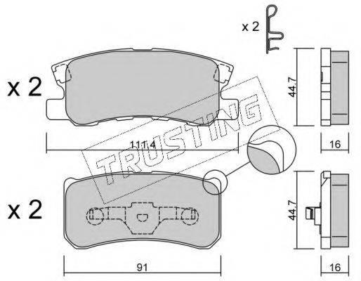 TRUSTING 4151 Комплект тормозных колодок, дисковый тормоз