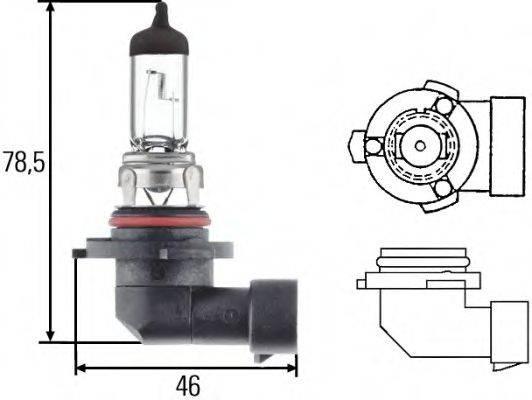 HELLA 8GH005636121 Лампа накаливания, фара дальнего света; Лампа накаливания, основная фара; Лампа накаливания, противотуманная фара; Лампа накаливания; Лампа накаливания, основная фара