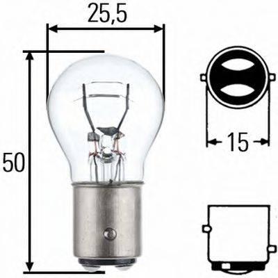 HELLA 8GD002078121 Лампа накаливания, фонарь указателя поворота; Лампа накаливания, фонарь сигнала тормож./ задний габ. огонь; Лампа накаливания, задняя противотуманная фара; Лампа накаливания, фара заднего хода; Лампа накаливания, задний гарабитный огонь; Лампа накаливания, фонарь освещения багажника; Лампа накаливания, стояночные огни / габаритные фонари; Лампа накаливания; Лампа накаливания, стояночный / габаритный огонь; Лампа накаливания, фонарь указателя поворота; Лампа накаливания, фонарь сигнала тормож./ задний габ. огонь; Лампа накаливания, фара заднего хода; Лампа накаливания, фара дневного освещения