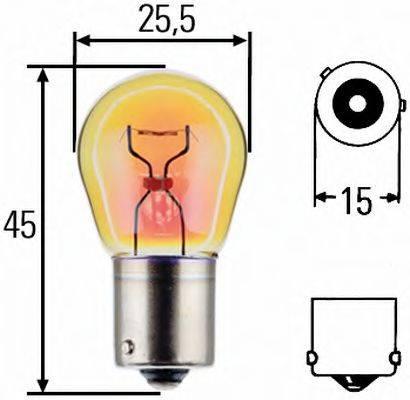 HELLA 8GA006841251 Лампа накаливания, фонарь указателя поворота; Лампа накаливания, фонарь указателя поворота