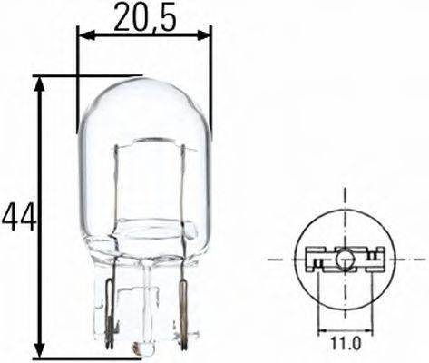 HELLA 8GA008892002 Лампа накаливания, фонарь указателя поворота; Лампа накаливания, фонарь сигнала тормож./ задний габ. огонь; Лампа накаливания, фонарь сигнала торможения; Лампа накаливания, задняя противотуманная фара; Лампа накаливания, фара заднего хода; Лампа накаливания, задний гарабитный огонь; Лампа накаливания, стояночные огни / габаритные фонари; Лампа накаливания; Лампа накаливания, стояночный / габаритный огонь; Лампа накаливания, фара дневного освещения