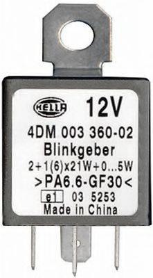 HELLA 4DM003360021 Прерыватель указателей поворота; Прерыватель указателей поворота