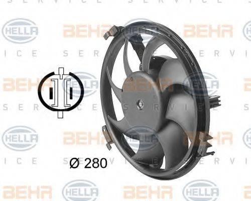 HELLA 8EW009144351 Вентилятор, охлаждение двигателя