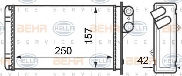 HELLA 8FH351024291 Теплообменник, отопление салона