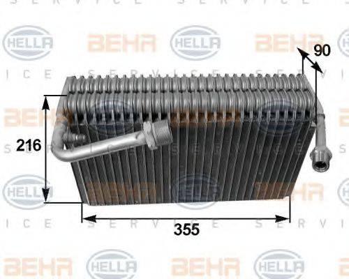 HELLA 8FV351210551 Испаритель, кондиционер