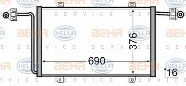 HELLA 8FC351306541 Конденсатор, кондиционер