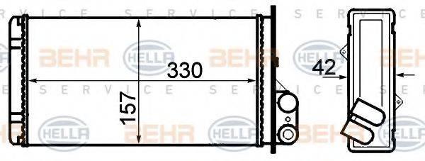 HELLA 8FH351308541 Теплообменник, отопление салона