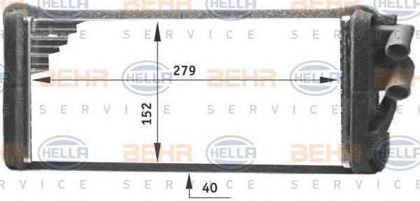 HELLA 8FH351311621 Теплообменник, отопление салона