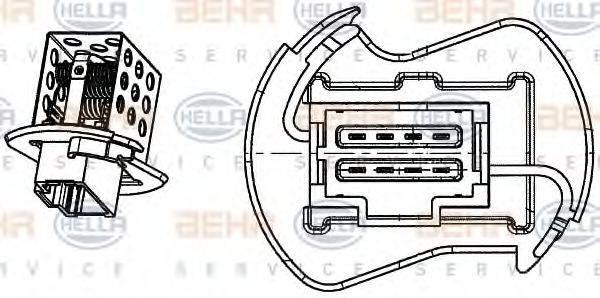 HELLA 9ML351332251 Сопротивление, вентилятор салона
