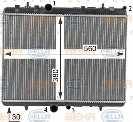 HELLA 8MK376700531 Радиатор, охлаждение двигателя