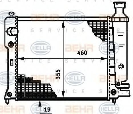 HELLA 8MK376719571 Радиатор, охлаждение двигателя