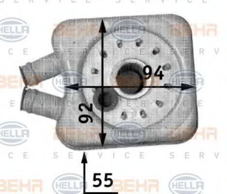 HELLA 8MO376726221 масляный радиатор, двигательное масло