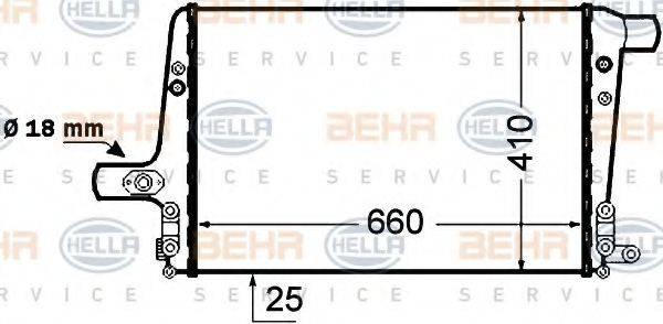 HELLA 8ML376776041 Интеркулер
