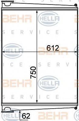 Интеркулер HELLA 8ML 376 777-011