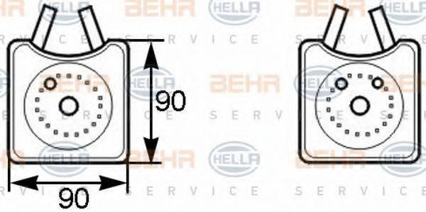 HELLA 8MO376778001 масляный радиатор, двигательное масло