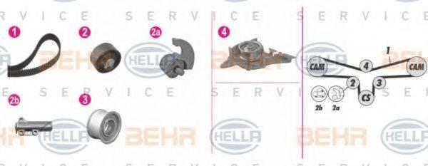 HELLA 8MP376812841 Водяной насос + комплект зубчатого ремня