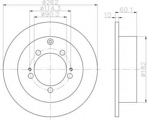 HELLA 8DD355118661 Тормозной диск
