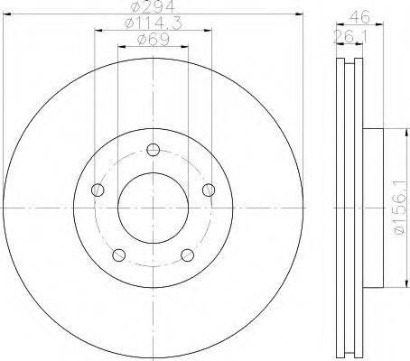 HELLA 8DD355115911 Тормозной диск