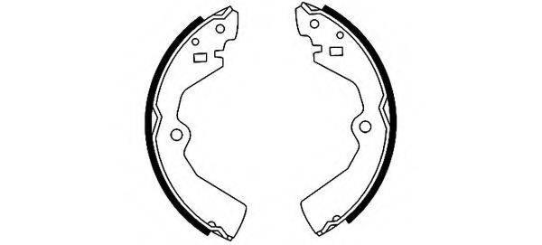 HELLA 8DB355000931 Комплект тормозных колодок