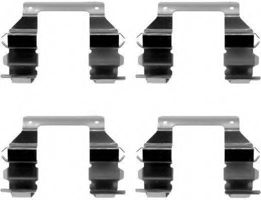 HELLA 8DZ355202291 Комплектующие, колодки дискового тормоза