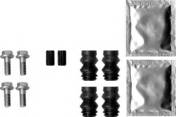 HELLA 8DZ355201571 комплект принадлежностей, тормозной суппорт