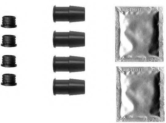 HELLA 8DZ355201591 комплект принадлежностей, тормозной суппорт