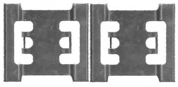 HELLA 8DZ355205141 Комплектующие, колодки дискового тормоза