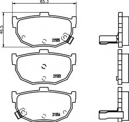 HELLA 8DB355006411 Комплект тормозных колодок, дисковый тормоз