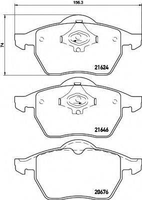 HELLA 8DB355007881 Комплект тормозных колодок, дисковый тормоз