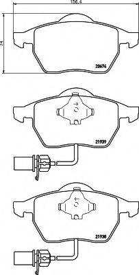 HELLA 8DB355008411 Комплект тормозных колодок, дисковый тормоз