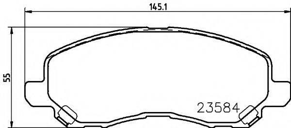 HELLA 8DB355009671 Комплект тормозных колодок, дисковый тормоз