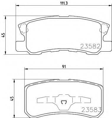 HELLA 8DB355009691 Комплект тормозных колодок, дисковый тормоз