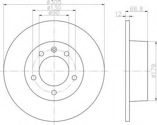 HELLA 8DD355108291 Тормозной диск