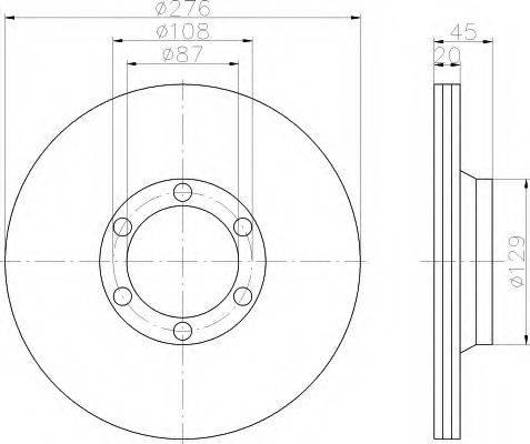 HELLA 8DD355101161 Тормозной диск