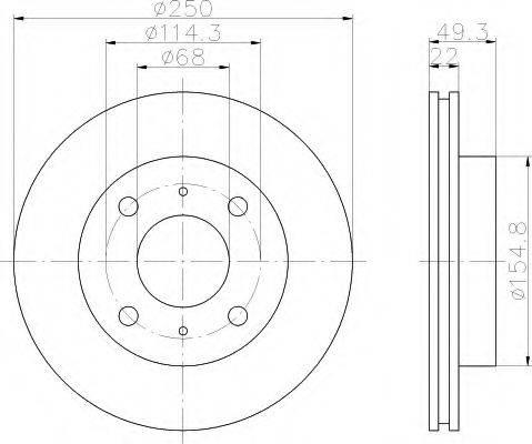 HELLA 8DD355102031 Тормозной диск