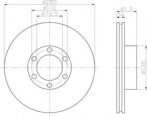 HELLA 8DD355106611 Тормозной диск