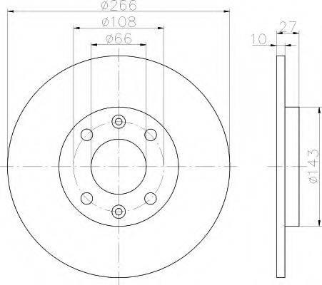 HELLA 8DD355100851 Тормозной диск