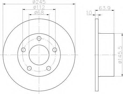 HELLA 8DD355102801 Тормозной диск