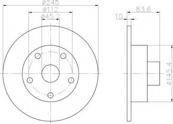 HELLA 8DD355104231 Тормозной диск