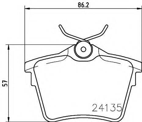HELLA 8DB355011501 Комплект тормозных колодок, дисковый тормоз