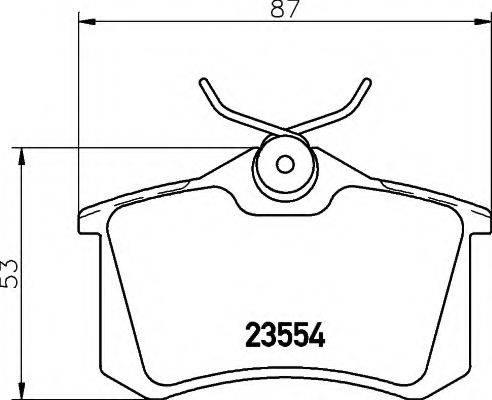 HELLA 8DB355017711 Комплект тормозных колодок, дисковый тормоз