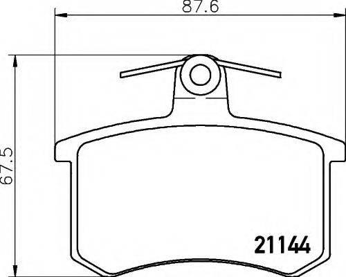 HELLA 8DB355017951 Комплект тормозных колодок, дисковый тормоз