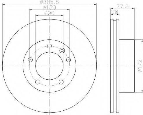 HELLA 8DD355108931 Тормозной диск