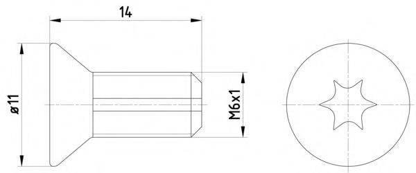 HELLA 8DZ355209121 Болт, диск тормозного механизма