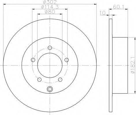 HELLA 8DD355119451 Тормозной диск
