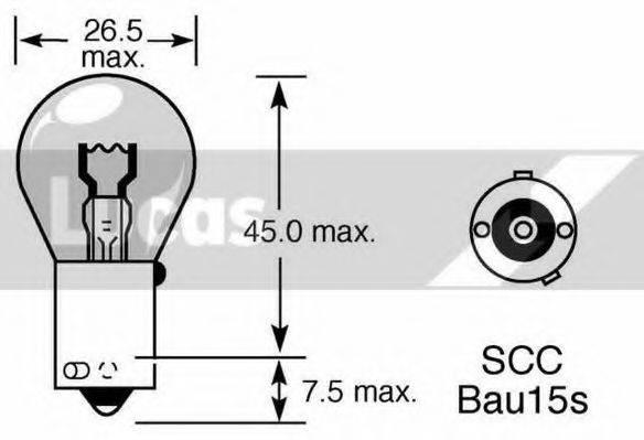 LUCAS ELECTRICAL LLB581 Лампа накаливания, фонарь указателя поворота